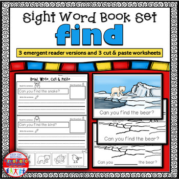 Emergent Reader for the Sight Word FIND