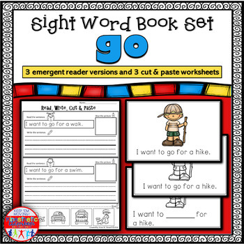 Emergent Reader for the Sight Word GO