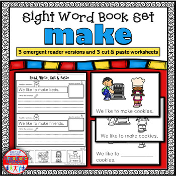 Emergent Reader for the Sight Word MAKE