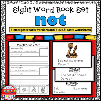 Emergent Reader for the Sight Word NOT