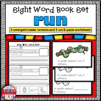 Emergent Reader for the Sight Word RUN