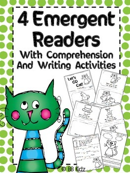 Emergent Readers {4 sets of readers with writing and a com