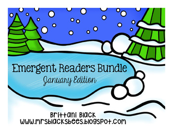 Emergent Readers Bundle~ January Edition