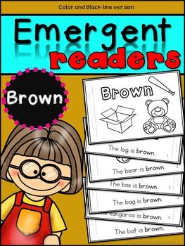 Emergent Readers: Color Words BROWN