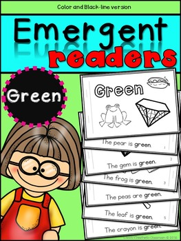 Emergent Readers: Color Words GREEN