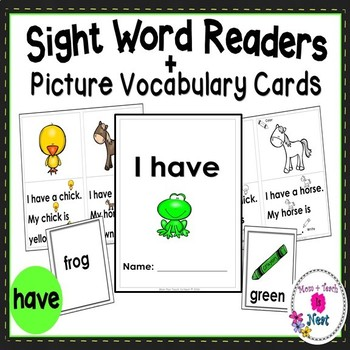 Sight Word Emergent Reader- Book & Activity: Animal Colors