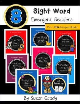 Emergent Sight Word Readers Bundle {And, Do, Does, He, Pla