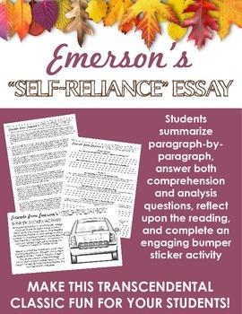 Emerson's Self-Reliance Activities -- Transcendentalism