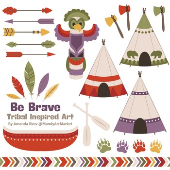 Be Brave Tribal Clipart & Vectors in Autumn - Tribal Clip