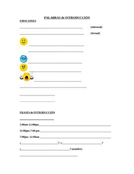 Emociones, Formas, Palabras de conversacion / Emotions, sh