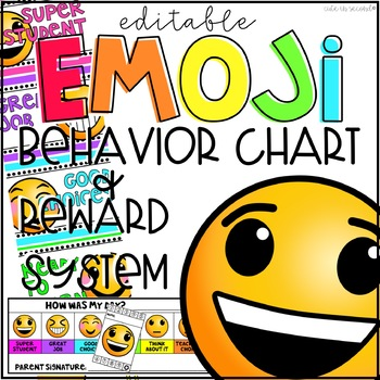 Emoji Behavior Clip Chart, Punch Cards, and Daily Check-In Slips