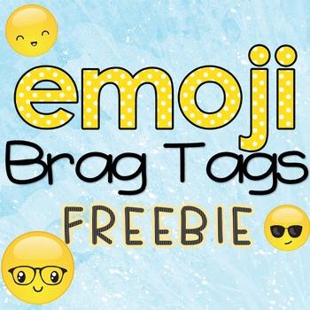 Emoji Brag Tags - FREEBIE