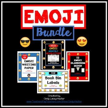 Emoji Bundle - Classroom Decor, Paper, Binder Covers, Plan