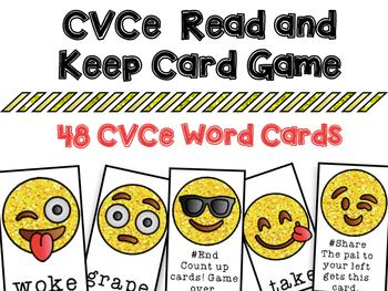 Emoji CVCe Silent E Read and Keep Card Game