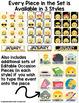 Emoji Calendar Numbers and Bulletin Board Cards: Editable