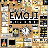 Emoji Classroom Decor Bundle - Editable