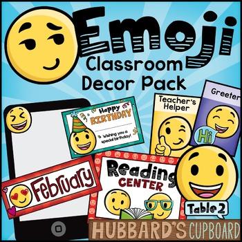 Emoji Theme Classroom Decor Pack