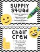 Emoji Classroom Job Crews and Teams-Editable