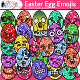 Emoji Easter Egg Clip Art {Emoticons for Brag Tags & Class