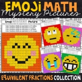 Emoji Equivalent Fractions Mystery Pictures