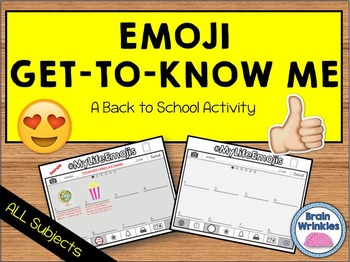 Emoji Get to Know Me Activity