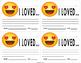 """Emoji """"Love"""" Motivation Note"""