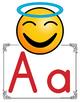 Emoji Manuscript Alphabet Line ~ Color/Black and White