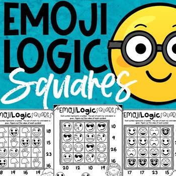 Emoji Math Logic Puzzles (Squares)