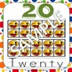 Emoji Number Posters using Emoticon 10s frames 1-20, 30, 4