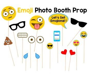 Emoji Photo Booth Props
