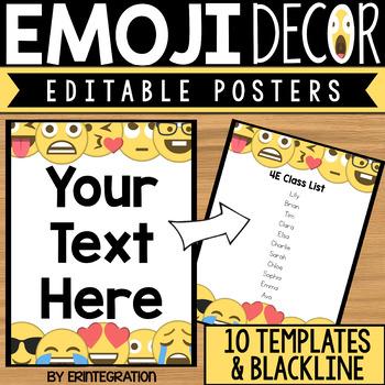 Emoji Posters, Rules, or Binder Covers - Editable