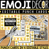 Emoji Punch Cards - Editable