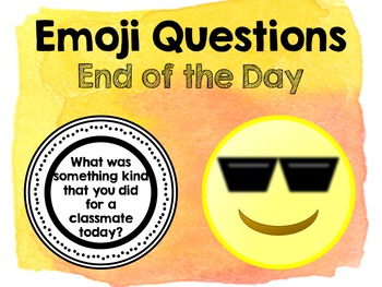 Emoji Questions - End of the Day