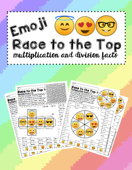 Emoji Race to the Top ~ Multiplication and Division Facts