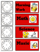 Emoji Schedule with Clocks