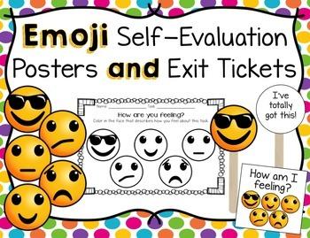 Emoji Classroom Assessment Tools Set - Upated
