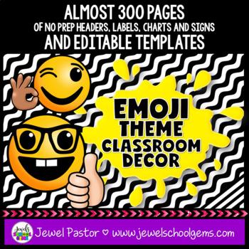 Emoji Theme Classroom Decor