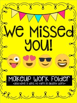 Emoji Themed Makeup Work Folder