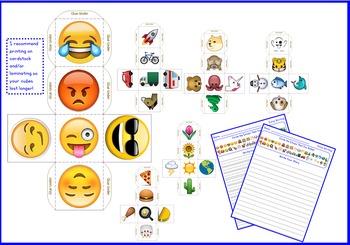 Emoji Writing Cubes