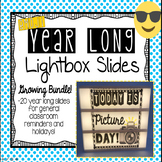 Emoji Year Long Lightbox Slides *Growing Bundle*