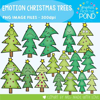 Emotion / Feelings Christmas Trees Clipart
