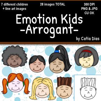 Emotion Kids - ARROGANT - Facial Expressions Clipart