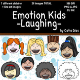 Emotion Kids - LAUGHING - Facial Expressions Clipart