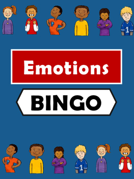 Emotions Bingo -Emotions Vocabulary in English