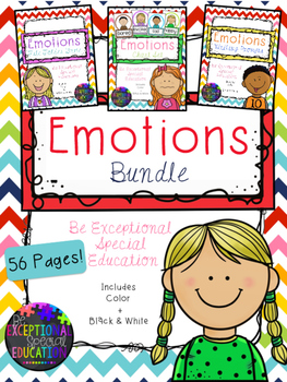 Emotions Bundle (Posters, File Folder Game, Writing Prompts)