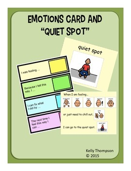 Emotions Card & Quiet Spot for Students with Autism/Special Needs