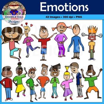 Emotions Clip Art (Happy, Sad, Scared, Nervous, Silly, Ecs