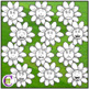 Emotions Clipart | Green Flower Expressions Clip Art