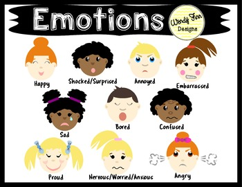 Emotions Clipart Kids Emotions Faces