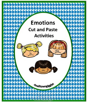 Cut and Paste Activities  Autism Emotions Special Educatio